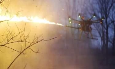 Компания Throwflame представляет дроны с огнеметами (+видео)