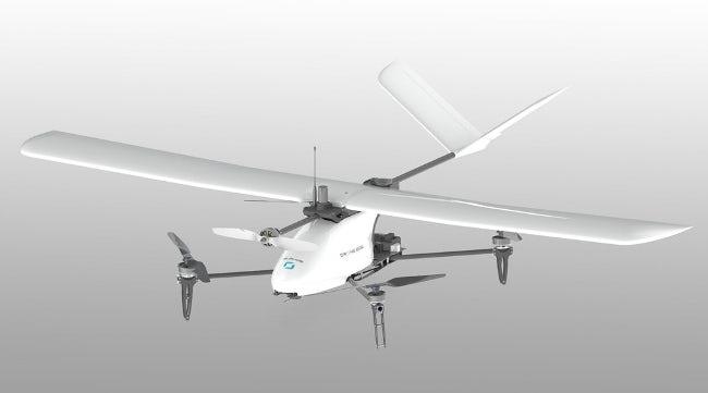 Время полета модифицированного дрона Heliplane от Drone Volt составляет 60 минут