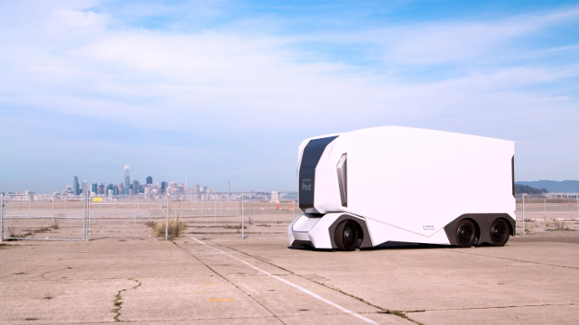 Беспилотные электрогрузовики T-Pod могут появится на дорогах США