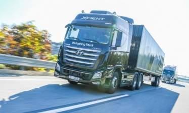 Автономные колонны грузовиков Hyundai выехали на дороги Южной Кореи