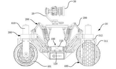 DJI запатентовала вездеход со стабилизированной камерой