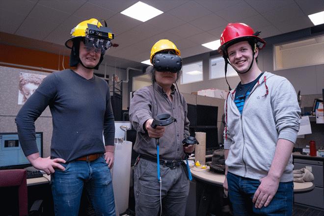 Шлем пожарного Haptic Helmet подскажет путь даже при нулевой видимости